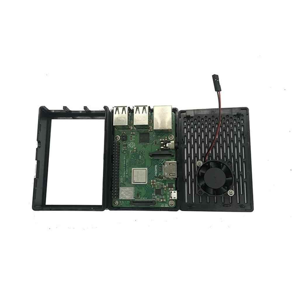 Raspberry Pie 3b + 3.5 Inci Tampilan Layar Sentuh Shell Coolable Kipas Angin 2 In 1 Chassis Kotak