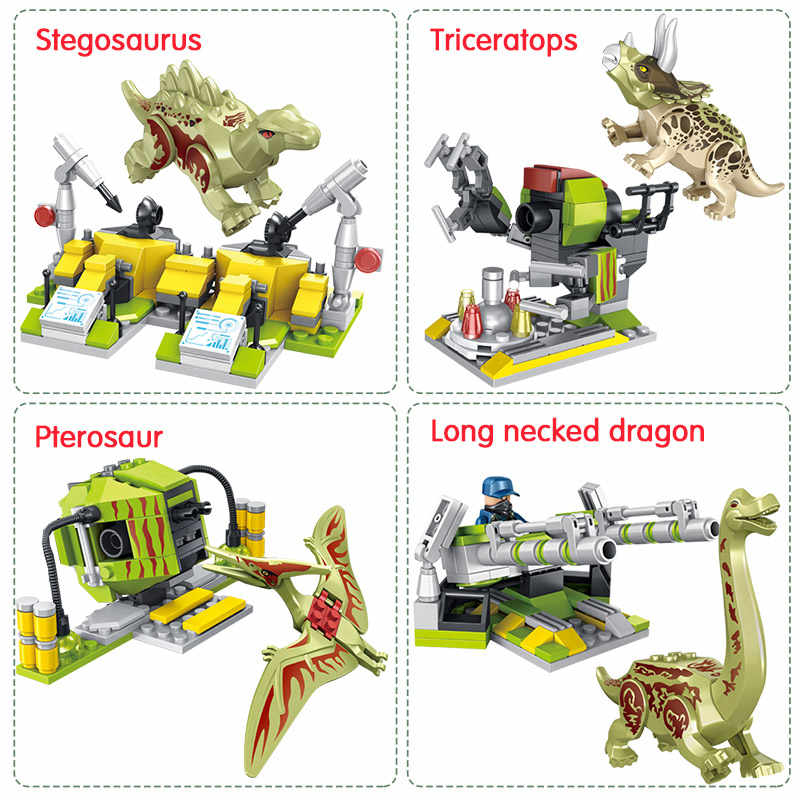 Legoingly Jurassic World 2 บล็อกอาคาร Mechanical สัตว์ไดโนเสาร์ Tyrannosaurus Rex อิฐ Jurassic Park ของเล่นสำหรับชาย