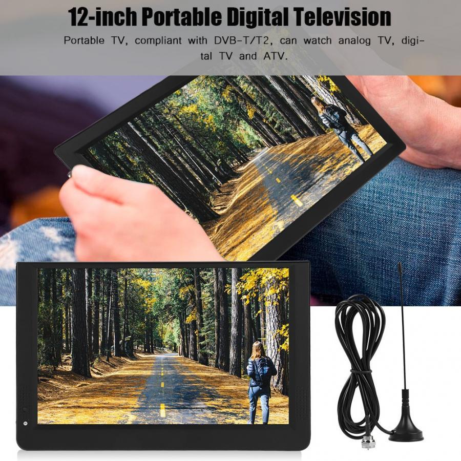 12 Inch Car TV Lcd Mini Digital TV Leadstar 1080P Portable 16:9...