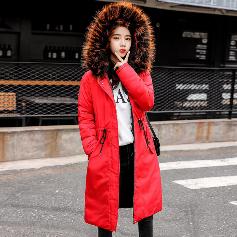 Winter Coats For Women Fashion Wear On Both Sides Female Fashion Hooded Fur Collar Thick Warm Outwear Down Cotton Padded   Parkas