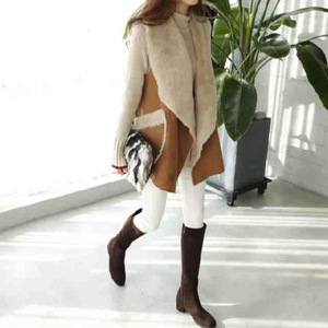 Image 4 - TWOTWINSTYLE Korean Lamb Wool Vest Coats Female Sleeveless Lapel Collar Casual Coat For Women Plus Thick 2019 Winter Fashion