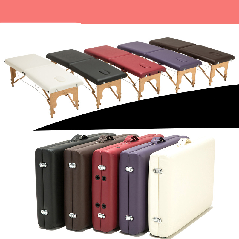 Professional Foldable Massage Bed Portable Lightweight Therapy Table Beaty Salon Equipment  Memory Foam Padding Leather Cover