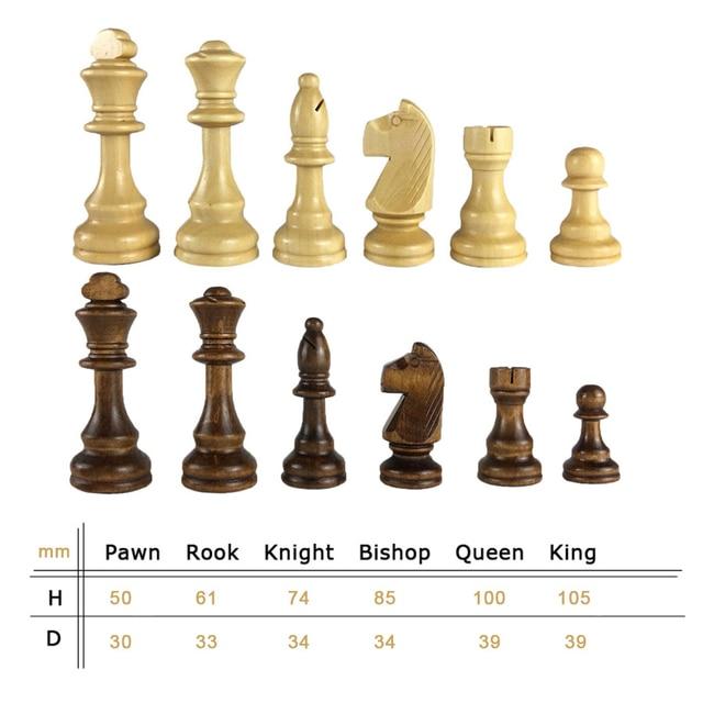Set de pièces d'échec 54/65/80/92/105mm jeu d'échecs en bois pour compétitions internationales 6