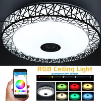 36W RGB Music LED Ceiling Lamp Light APP bluetooth Control Changing Dimmable 110 265V Metal Acrylic Fixture Ceiling Lights