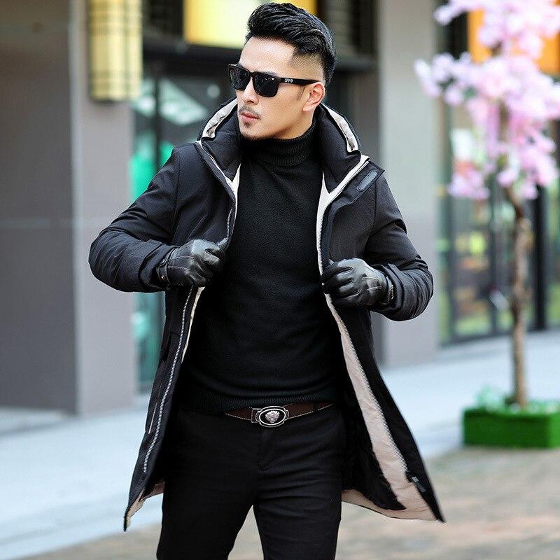 Treasure Luan Winter New Style Men'S Wear White Duck Down Jacket Casual Cy Warm Fashion MEN'S Coat 9936