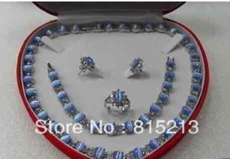 תכשיטי סט כחול אופל תכשיטים