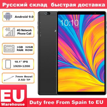 Teclast P10HD 4G Phone call Octa Core tablet pc 3GB RAM 32G ROM IPS1920*1200 SIM Android 9.0 OS 10.1 Inch Tablet GPS 6000mah octa core 10 inch card tablet pc 4g lte call phone mobile 4g the android tablet pc 32 64gb ips 1920 1200 10 10 1