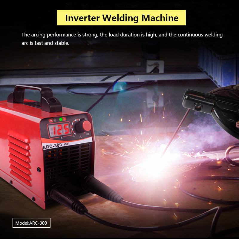 Image 5 - Handskit Welding Machine ARC 300 Portable Electric Welder Semiautomatic Welding Reverse Welder for Welding Electric WorkArc Welders   - AliExpress