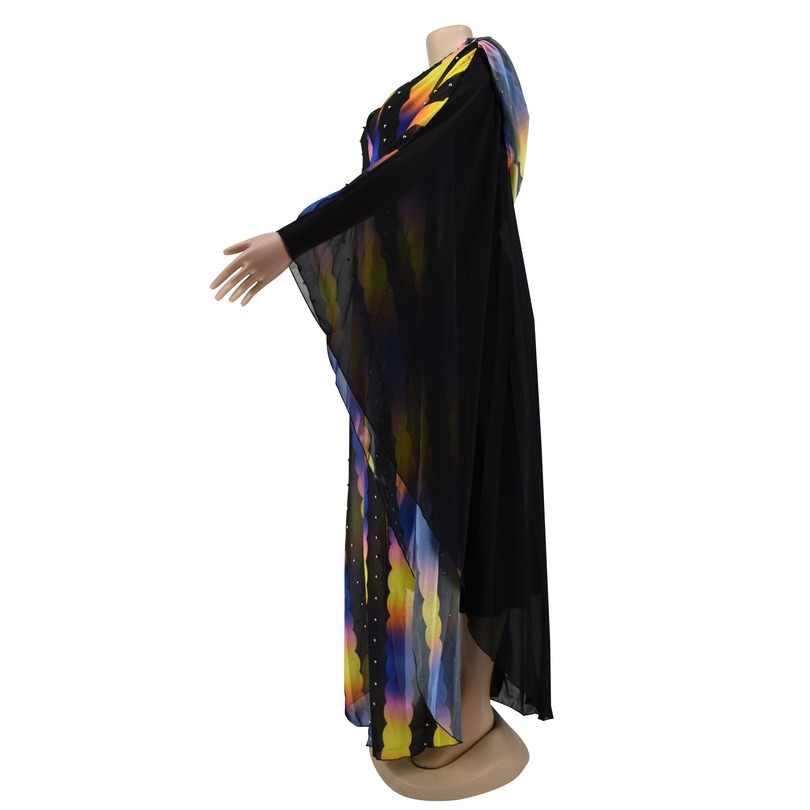 שמלות אפריקאיות נשים בתוספת גודל אפריקה בגדים מוסלמי ארוך מקסי שמלה באיכות גבוהה אורך אופנה אפריקאי שמלה עבור גברת