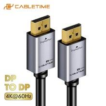 CABLETIME DisplayPort kablosu 8K 4K 60Hz erkek DP1.2 DP1.4 kablo DP video ses Displayport kablosu 2M HDTV projektör PC C247