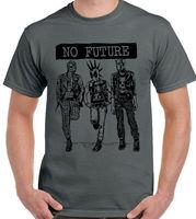 No Future Mens Funny Superhero Parody T Shirt Spiderman Deadpool Daredevil Punk