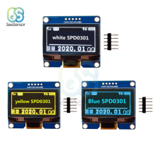 5Pin IPS 0.96 inch Yellow Blue White OLED Display Module 128X64 I2C IIC SPD0301 Driver 12864 LCD Screen Board 0.96