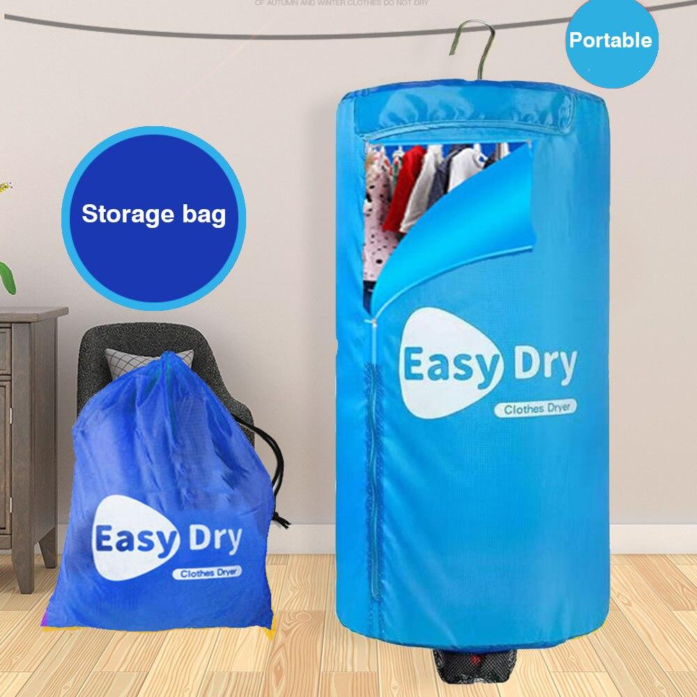 Portable 900 Watt Heated Ventless Laundry Clothes Dryer Folding Drying Machine