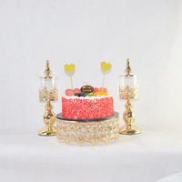 Wedding Dessert Table Decoration kids birthday party candy jar crystal cake stand cake pan metal crown cake holder display gold