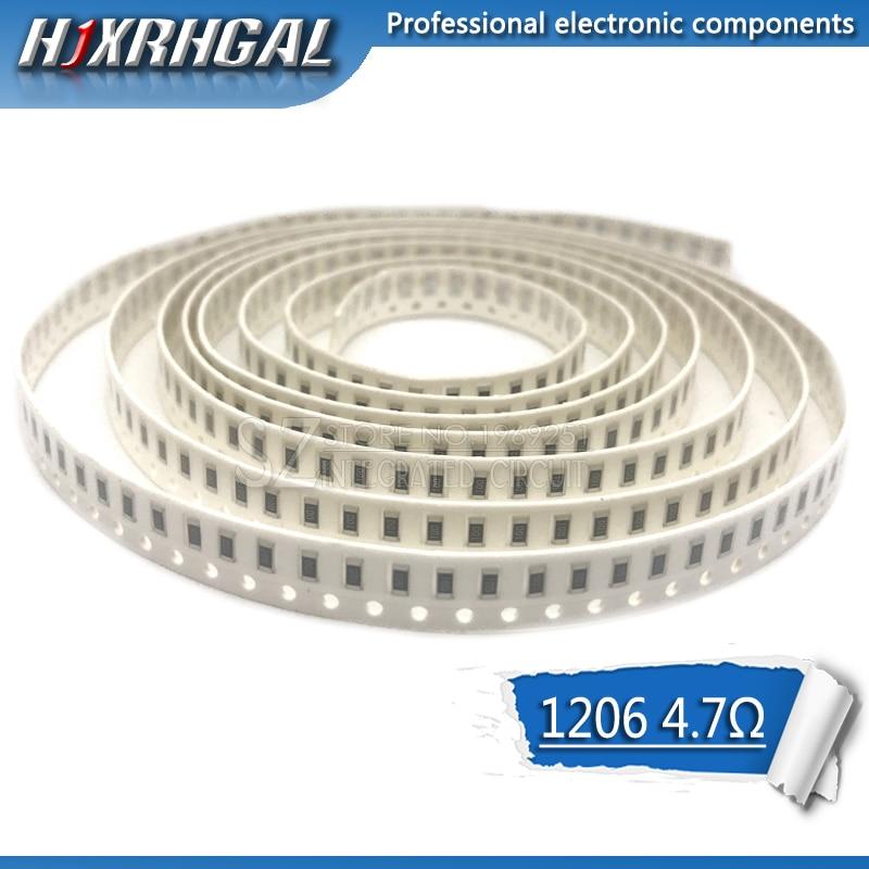 10PCS 1206 SMD Resistor 4.7 Ohm Chip Resistor 0.25W 1/4W 4.7R 4R7 Hjxrhgal