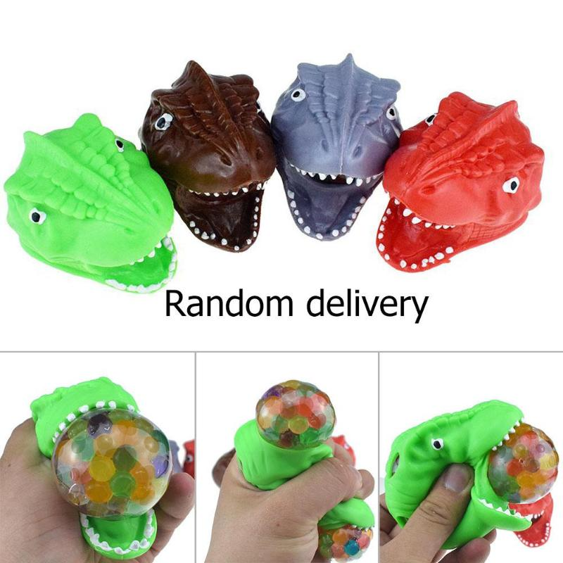 Kids Children Toy Soft Plastic Inner Shock Absorber SphereTPR Dinosaur Squeeze Stress Relief Fidget Toy Random Color