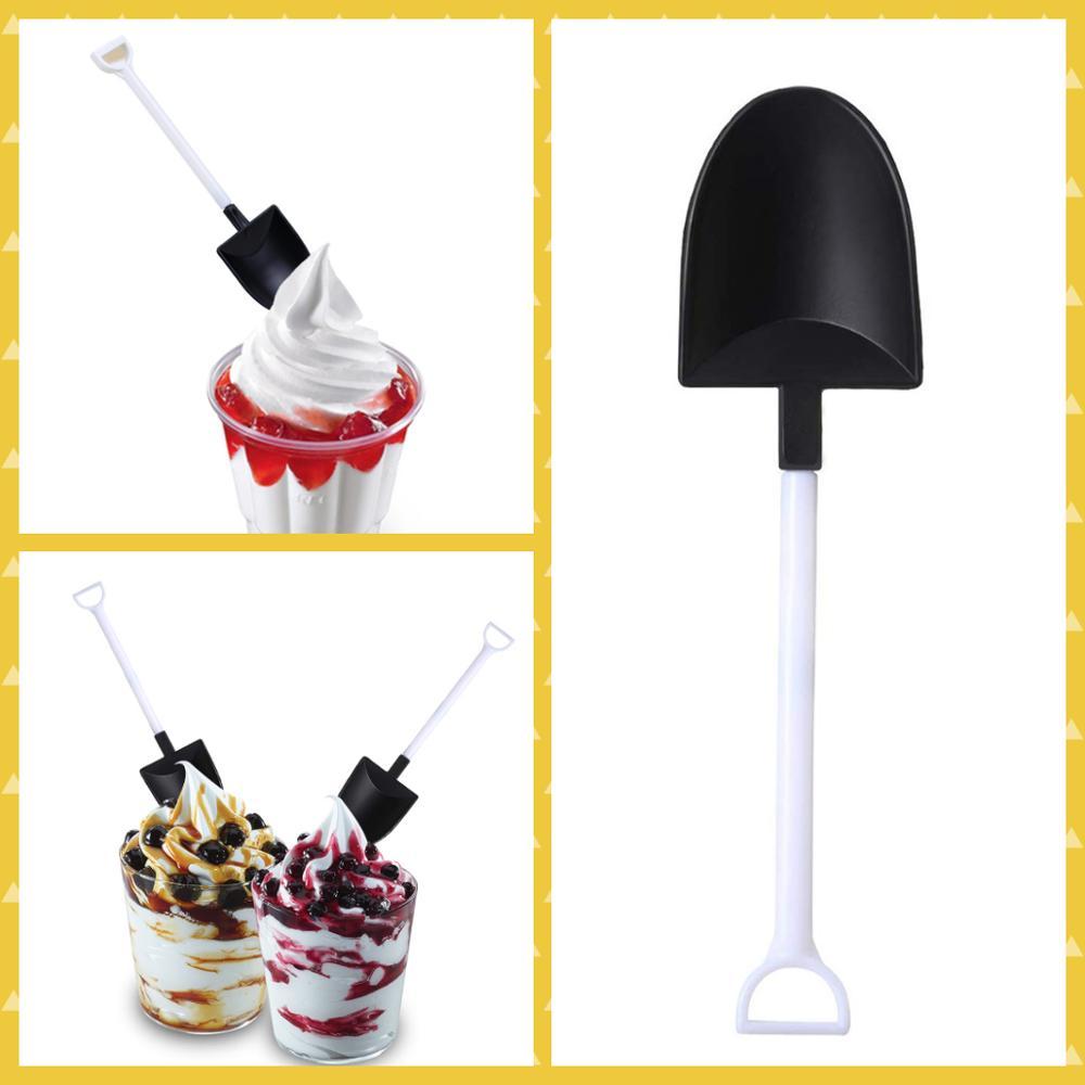 Пластиковая одноразовая мини лопата для мороженого|Одноразовые вилки| |