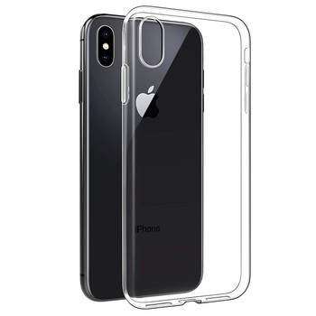 100pcs Transparent TPU Phone Case for iPhone X XS XR Clear Soft Silicone Cases for iPhone 6s 78 Protective Cover Coque