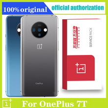 Original Back Housing Replacement for Oneplus 7T Back Cover Battery Glass with Camera Lens adhesive Sticker Repair parts