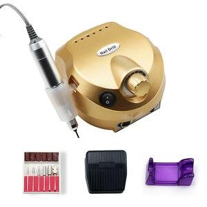 Image 5 - 35000/20000 RPM 전기 네일 드릴 머신 밀 커터 세트 매니큐어 네일 팁 매니큐어 전기 네일 페디큐어 파일