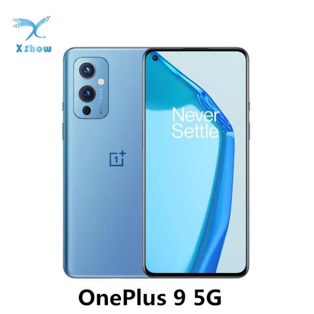 OnePlus 9 5G One Plus Snapdragon 888 8GB 128GB Smartphone 6.55'' 120Hz Fluid AMOLED Display Hasselblad Camera Cell phones 1