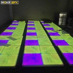 Led wrażliwy parkiet taneczny Disco Club dekoracja oświetlenie sceniczne Led parkiet taneczny w Oświetlenie sceniczne od Lampy i oświetlenie na