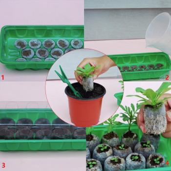 Garden Supplies Potted Plant Seed Gardening Tool Nursery Peat Pot Pellet Nutritional Supply Soil Block Garden Compressed & U4V4 image