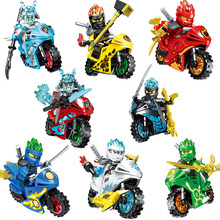 Ninja New Motorcycle Building Blocks Bricks figure toys Carmadon Kai Jay Zane Cole Lloyd Secrets of the forbidden Gift Toy