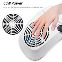 60/40W Strong Nail Dust Suction Collector Vacuum Cleaner with Big Power Fan 2 Dust Bags Nail Art Equipment Nail Salon Tools 30w nail suction dust collector with 3 fan and 2 bags nail vacuum cleaner manicure tools hand rest design nail art equipment hwc