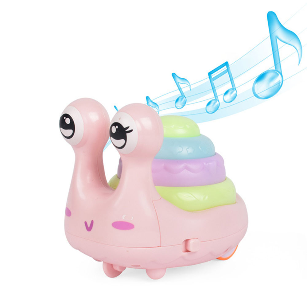 Press Toy Vocal Toys Cartoon Toy Inertia Cars With Light Music Pull Back Mini Snail Model Toy For Children
