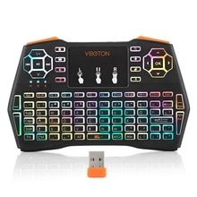 MINI teclado inalámbrico I8 Plus de 2,4 GHz, mando a distancia con panel táctil para Android Tv Box Notebook Tablet Pc