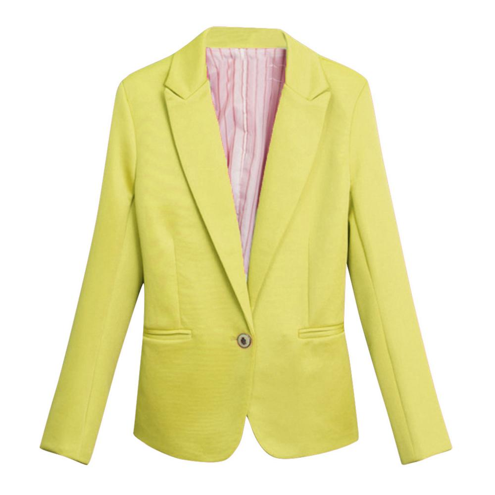 Blazer Femme 2019 Ladies Elegant Blazers Women Fashion Solid Blazer Long Sleeve Notched Button Casual Elegant Blazer Feminino A1