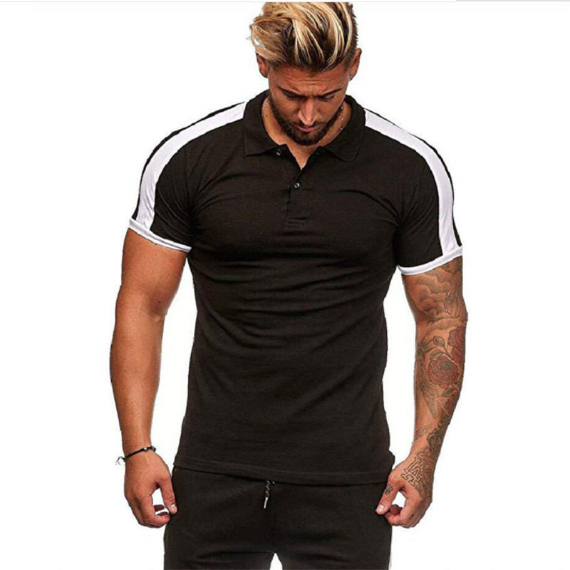 Summer Men   Polo   Shirt Short Sleeve Casual Cotton Contrast Color   Polo   Shirt Male Lapel Slim Fit   Polo   Shirt 2019 Male Tops