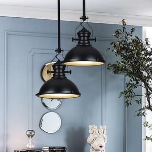 Image 5 - 3 style Loft retro Industrial hanging Hardware metals pendant lamp vintage E27 LED lights For Kitchen bar coffee light fixtures