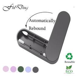 2 шт многоразовые ватные тампоны для чистки ушей Косметические Силиконовые палочки для чистки макияжа и сенсоров