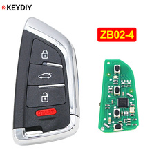 KEYDIY 4 Button Universal Smart Key ZB02 4 Car Key Remote Replacement for KD X2 Fit for More than 2000 Models