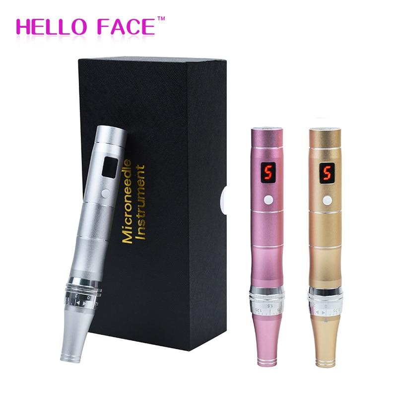 Electric Auto Derma Pen ULTIMA Korea Wireless LCD Screen Micro Needling Derma Rolling Machine Skin Care Beauty Meso Derma