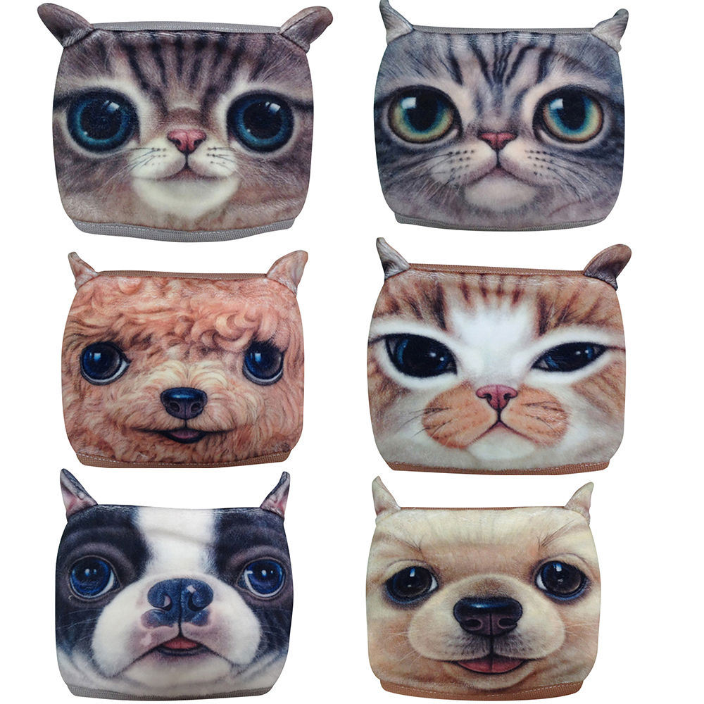 Unisex PM2.5 Dustproof Cat Mouth Face Mask Cotton Cartoon Dog Respirator Muffle Mouth Mask Reusable Breathable Print Face Masks