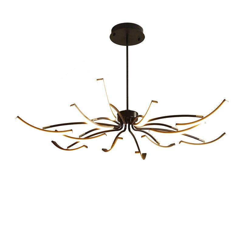 MDWELL Matte Zwart/Wit Afgewerkte Moderne Led Plafond Verlichting voor woonkamer slaapkamer studeerkamer Verstelbare Nieuwe Led Plafond lamp - 6