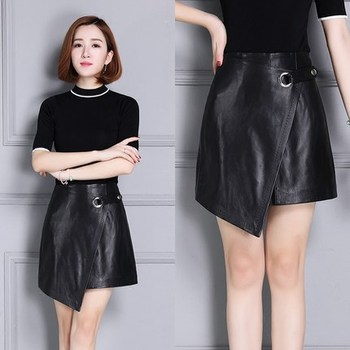 2020 Women New Real Genuine Sheep Leather Skirt K10 2020 new fashion real genuine sheep leather skirt g16