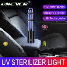 Onever Wiederaufladbare UV Sterilisator Licht Hause Uv Glühbirne Zusätzlich Milbe Lichter Ozon Sterilisation Lampe Für Auto Neue