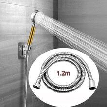 1,5 м 2 м шланг для душа из нержавеющей стали универсальная домашняя мягкая душевая труба серебристого цвета общая Гибкая водопроводная труба для ванной комнаты