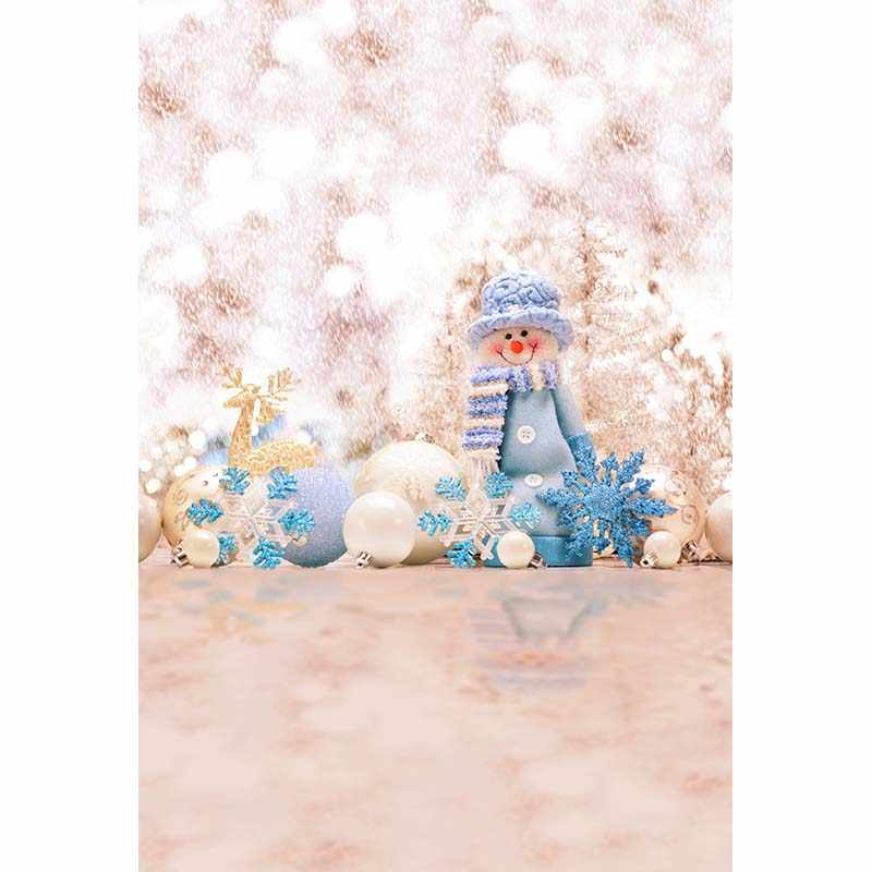 Fundo de fotografia de vinil árvore natal floco neve elk milu veados boneco de neve crianças backdrops para photo studio CM-6104