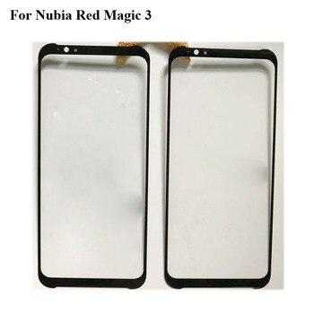 Перейти на Алиэкспресс и купить 2 шт. для Nubia Red Magic 3 NX629J переднее внешнее стекло для ремонта объектива с сенсорным экраном внешнее стекло без гибкого кабеля RedMagic 3 NX 629J