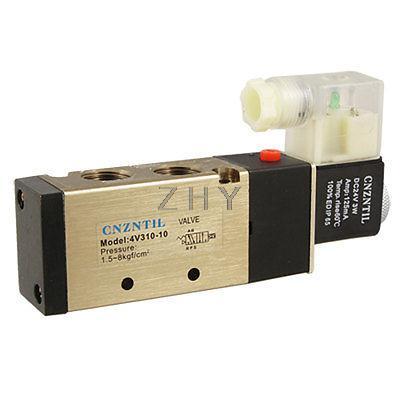 """1x 4v310-10 5ports2position único Solenoide neumática de válvula de aire de 3//8 /""""Bspt Ac110v"""