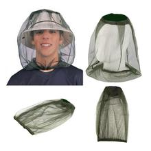 Outdoor Anti-mosquito Cap Fishing Hat Mosquito Bee Insect Mesh Head Face Protector Hunting Net Mask Caps