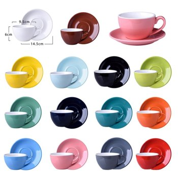 220ML Modern Ceramic Coffee cup set Simple European style Cappuccino Cups For Latte Mocha Coffee Cup With Saucer image