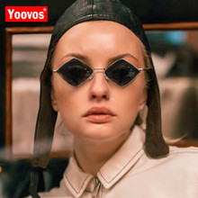 Yoovos Small Frame Sunglasses Women 2019 Prismatic Retro Square Sunglas