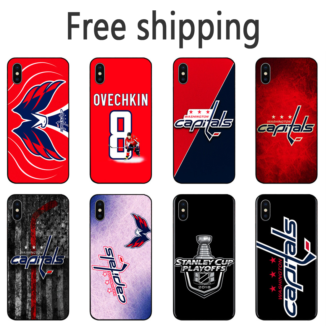 Washington Capitals Alexander Ovechkin Phone Case series Black Tpu Soft Cover for iPhone 11 Pro Max 6s 7 8plus 5S X XS XR XSMax(China)