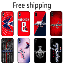 Washington Capitals Alexander Ovechkin Phone Case series Black Tpu Soft Cover for iPhone 11 Pro Max 6s 7 8plus 5S X XS XR XSMax